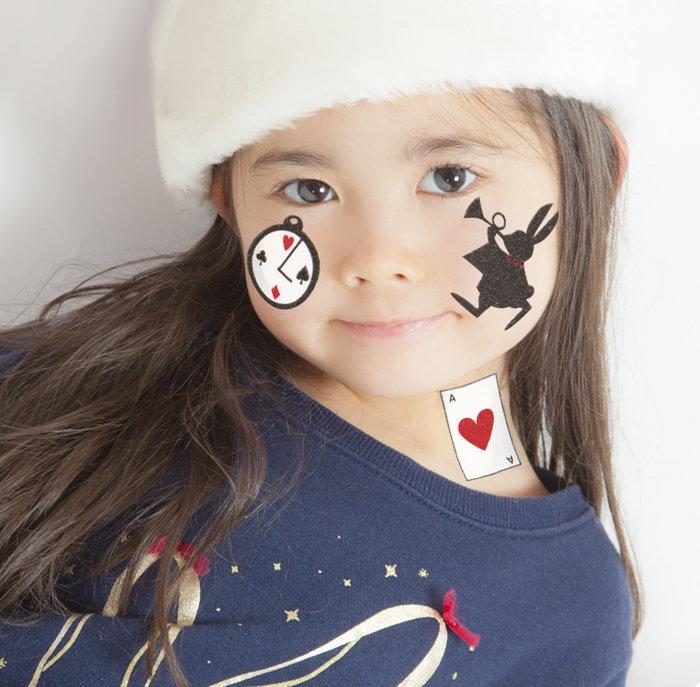 HWO 【メール便対応2個まで】ハロウィン KIDSシール アリスハート キッズ メイクアップ コスプレ ハロウィン 仮装 パレード