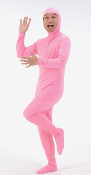 【メール便対応1個まで】全身タイツ ピンク M 全身タイツ コスチューム コスプレ モジ男 全身衣装 仮装グッズ イベント 宴会 パーティーグッズ