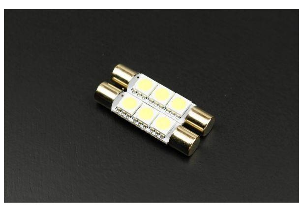T6.3×31mm 3SMD バニティランプ ホワイトLED 白 2個セット