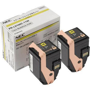 【2本セット】NEC/日本電気 PR-L9100C-11W トナーカートリッジ イエロー メーカー純正品