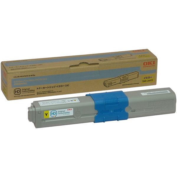 OKI/沖データ TNR-C4HY2 / TNRC4HY2 大容量トナーカートリッジ イエロー メーカー純正品