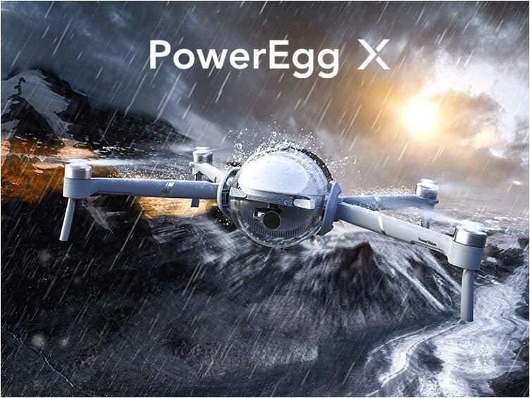 PowerVision PowerEgg X エクスプローラ版 AIカメラ ドローン 4K 自律式カメラ ハンディカメラ 高画質 スマホ リアルタイム録音 オールインワンプロダクト