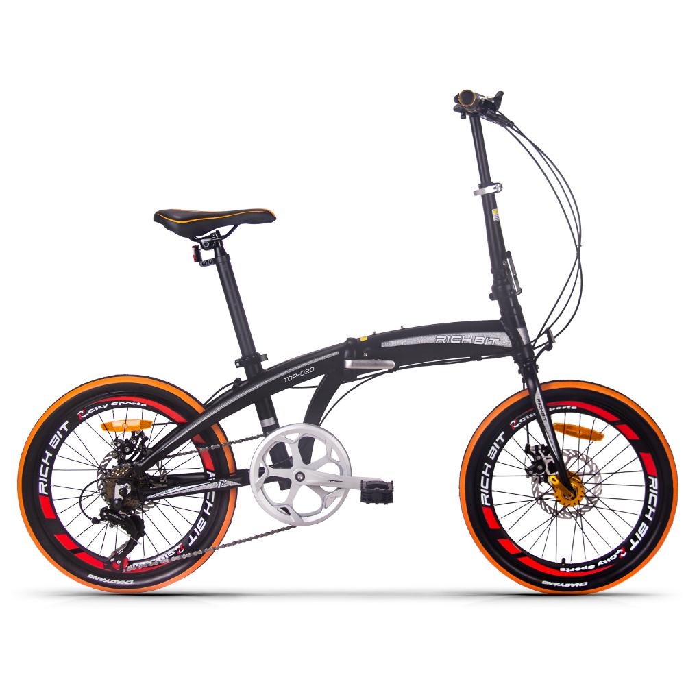 税込、送料込★RICHBIT【国内正規品】 TP020 折りたたみ自転車 20インチ 7段変速 小径車