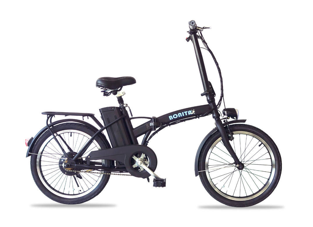 アルザン 36V版大容量リチウムバッテリー搭載 モペット型電動自転車ボニータ20(BONITA-20)20インチ 折り畳み可能 専用布カゴ付き