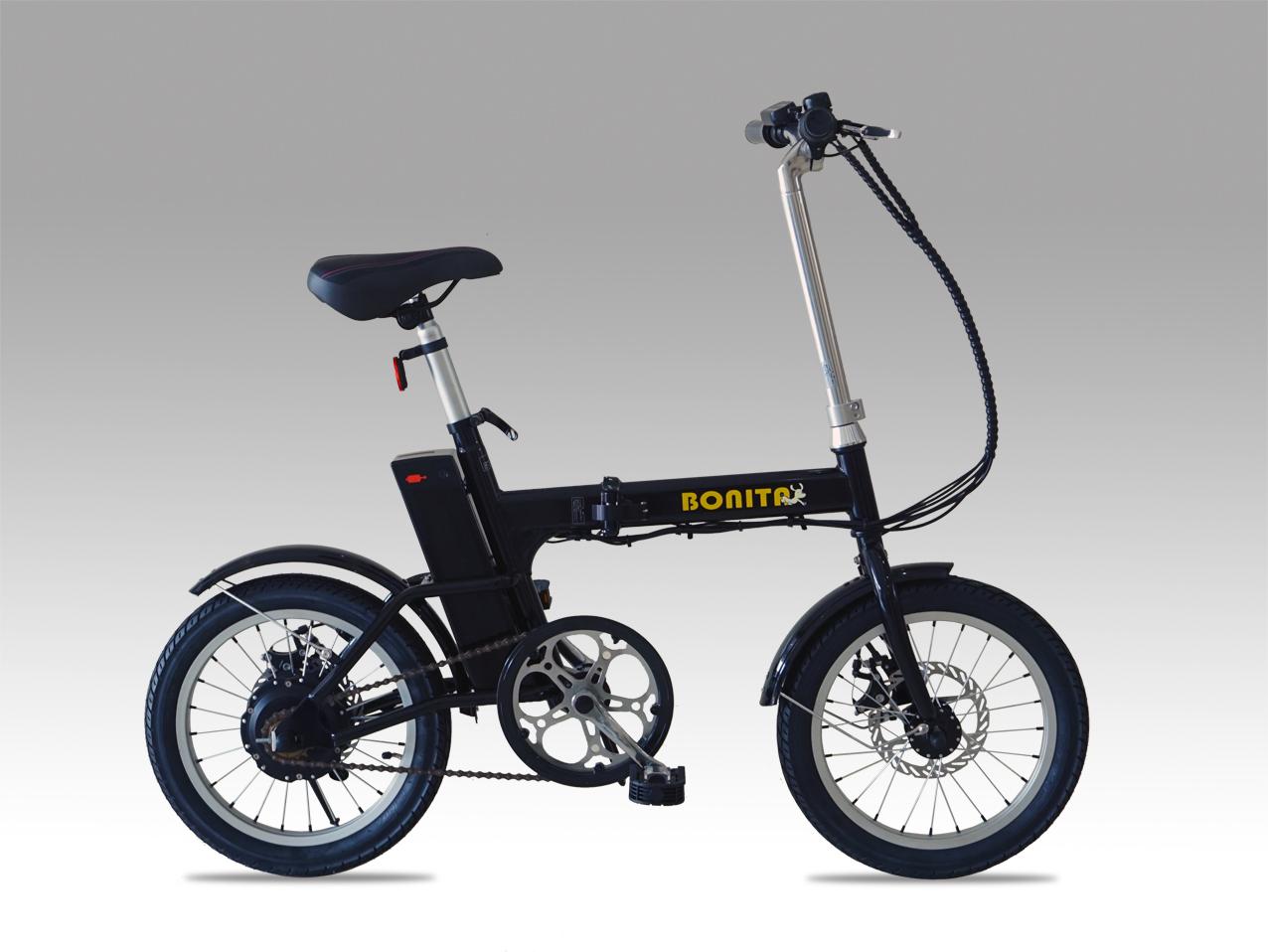 夏セール★数量限定36Vリチウムイオン電池★軽量折りたたみモペット電動自転車FLEX-16インチ
