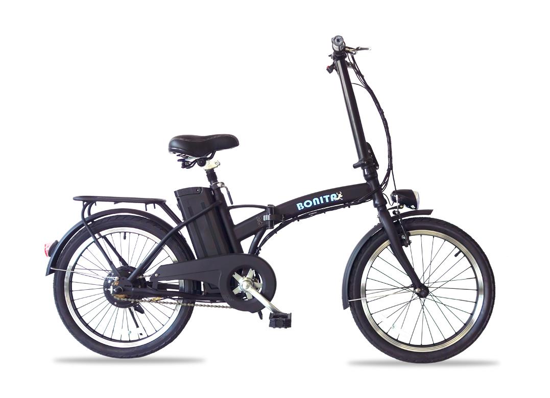 36V大容量リチウムバッテリー搭載★折りたたみ電動アシスト自転車ボニータ(BONITA-20インチ)専用布カゴ付き