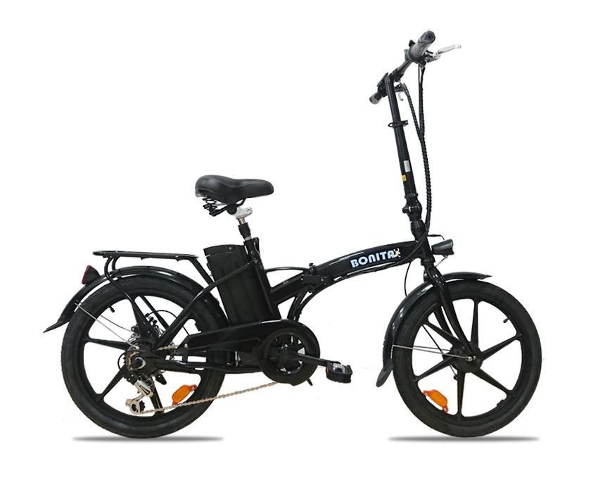 ★36V版大容量リチウムバッテリー搭載 モペット型電動自転車ボニータ20(BONITA-20)20インチ 折り畳み可能 6段変速と液晶表示板追加