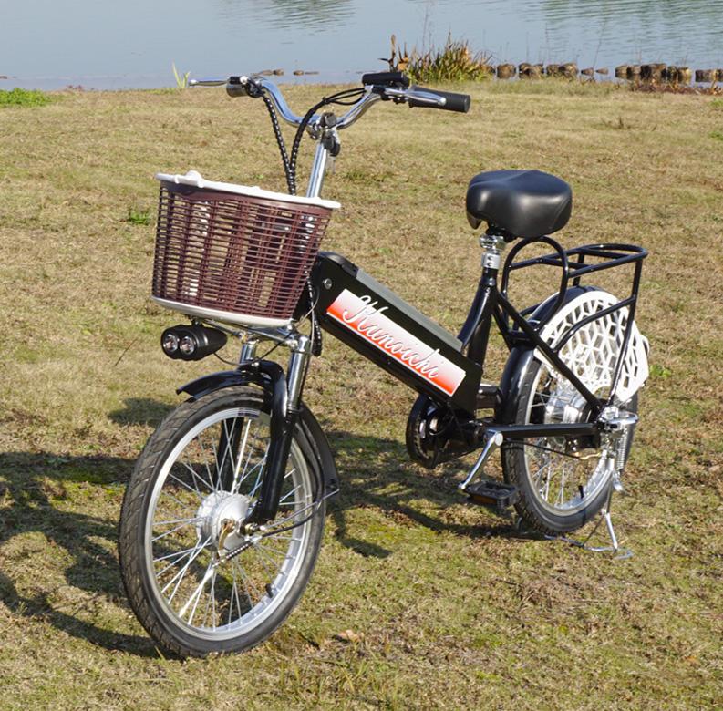 展示品★モペット版電動自転車 KUNOICHI--くノ一 20インチ フルアルミフレーム 大容量リチウムイオンバッテリー36V10AH搭載 カゴ付き