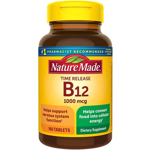 未使用 正規店 ビタミンB12 代謝 美容 ビタミン サプリメント ネイチャーメイド B12 タイムリリース アメリカ mg 1000 160粒 タブレット Made 160日分 Nature