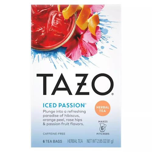 毎日がバーゲンセール 商品追加値下げ在庫復活 ハーブティー アメリカ タゾ Tazo アイス パッション 48杯分 ティーバッグ 6回分
