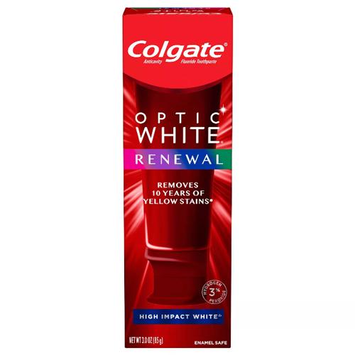 特価キャンペーン アメリカ 米国 ホワイトニング 歯磨き粉 最新版 コルゲート Colgate オプティックホワイト リニュー Impact High White Renewal ハイインパクト 85g Optic 大好評です ホワイト