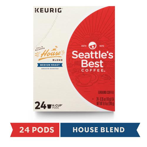 ブリュースター 在庫あり キューリグ K-CUP Kカップ シアトルベスト 定価 ハウスブレンド アメリカ ミディアムロースト Best Seattle's 24個入 コーヒー