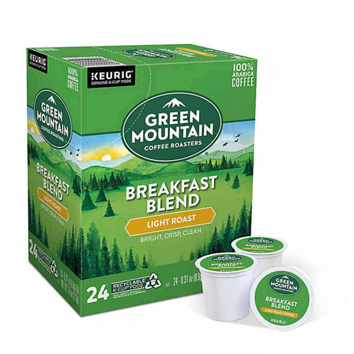ブリュースター キューリグ ショッピング K-CUP Kカップ 送料無料 グリーンマウンテン ブレックファーストブレンド Green 爆買い新作 コーヒー Mountain 24個入 ライトロースト アメリカ
