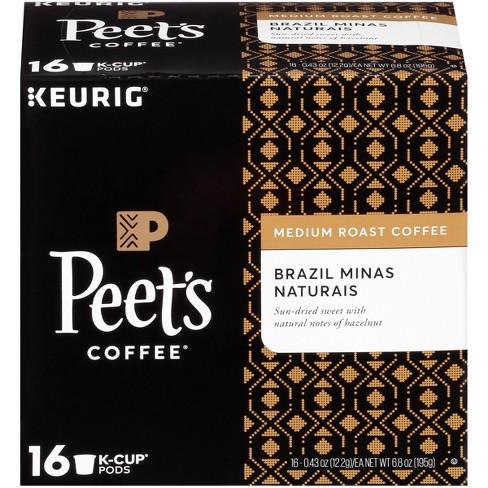 【ポイント5倍】 キューリグ K-CUP(Kカップ) ピーツコーヒー ブラジル ミナス ナチュラルイス ミディアムロースト コーヒー 16個入