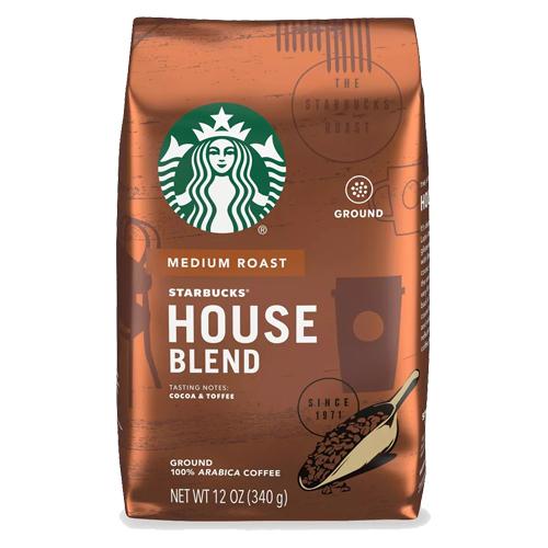 コーヒー コーヒー豆 アメリカ スターバックス Starbucks 豊富な品 人気ブランド 340g ミディアムロースト グラウンドコーヒー 挽き豆 ハウスブレンド