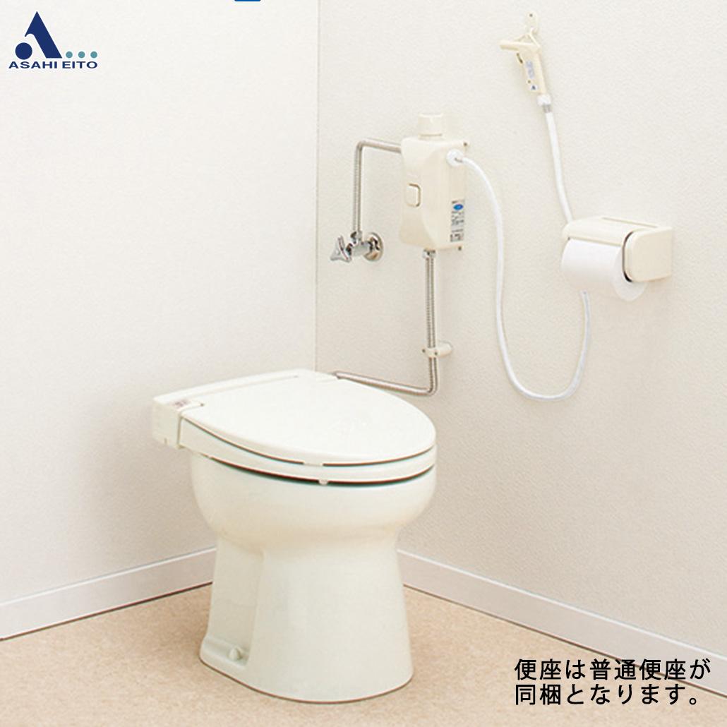 激安価格と即納で通信販売 アサヒ衛陶 簡易水洗トイレ+普通便座 ニューレット お得セット 一般地仕様 RNA001I