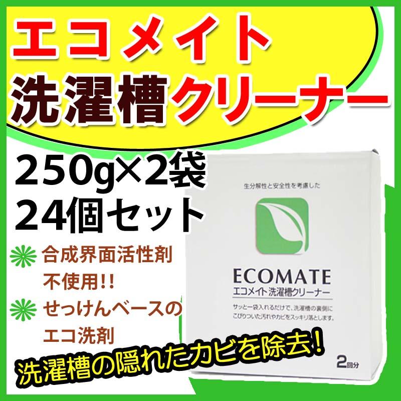エコメイト 洗濯槽クリーナー 250g×2袋 24個入 48回分 セット ECOMATE 洗濯機洗浄 洗濯槽掃除 洗濯用品 洗濯機 クリーニング まとめ買い セット商品
