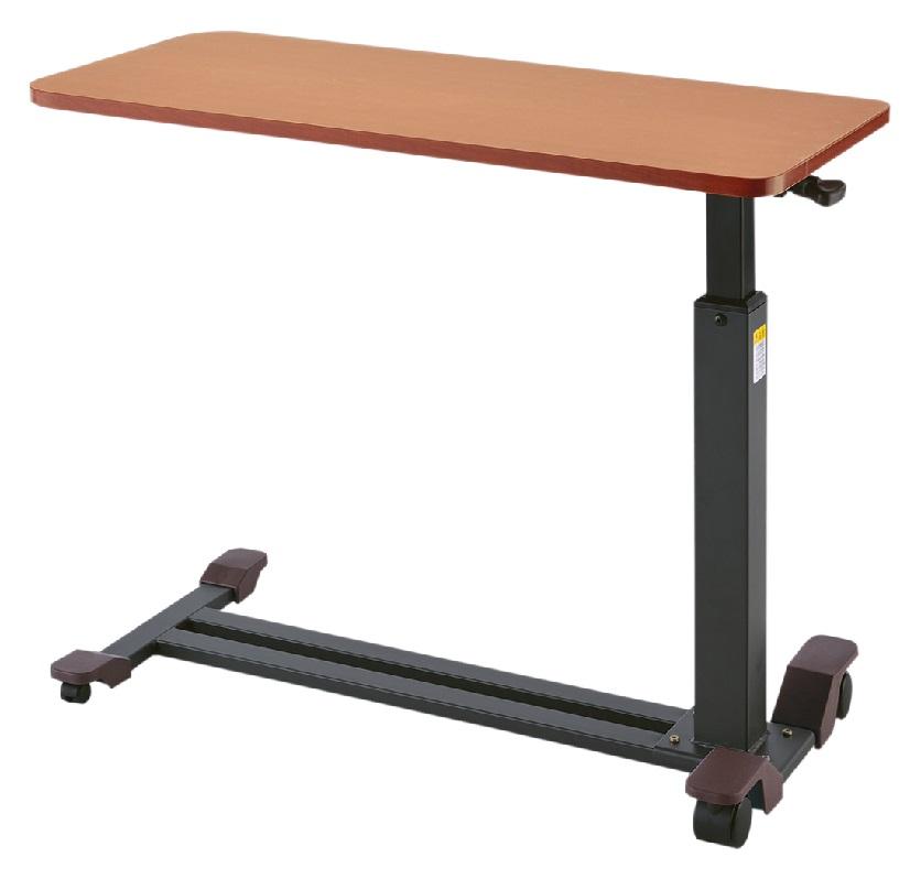 プラッツ ガス圧式昇降ベッドテーブル PZT-840 電動ベッド ケアレットシリーズにピッタリなサイドテーブル