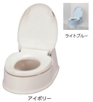 アロン化成 安寿 腰掛便座 簡易設置型洋式トイレ サニタリエース HG 両用式 介護商品 534-113 アイボリー 534-114 ライトブルー 住まいのトイレを工夫して使う