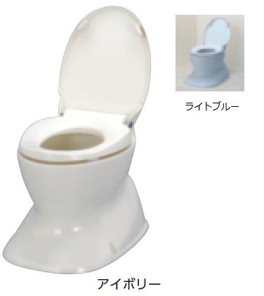 アロン化成 安寿 腰掛便座 簡易設置型洋式トイレ サニタリエース HG 据置式 介護商品 534-123 アイボリー 534-124 ライトブルー 住まいのトイレを工夫して使う