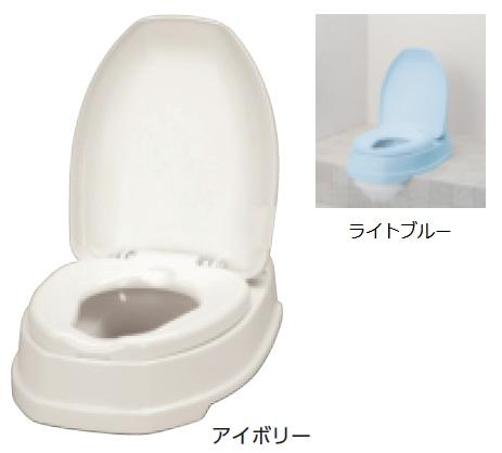 アロン化成 安寿 腰掛便座 簡易設置型洋式トイレ サニタリエース OD 両用式 介護商品 533-3039 アイボリー 533-304 ライトブルー