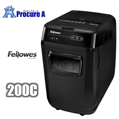 Fellowes/フェローズ 200C 品番:4653901 ※クロスカット(4×38mm)オートフィードシュレッダー 【代引き決済不可】/コンパクト/オフィス用品/