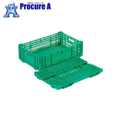訳あり 会社設立50年の安心感 迅速な対応で商品をお届け致します リス RSコンテナーRS-MM33 薄型折りたたみコンテナー 未使用 緑 G 836-2414 RS-MM33 株 岐阜プラスチック工業