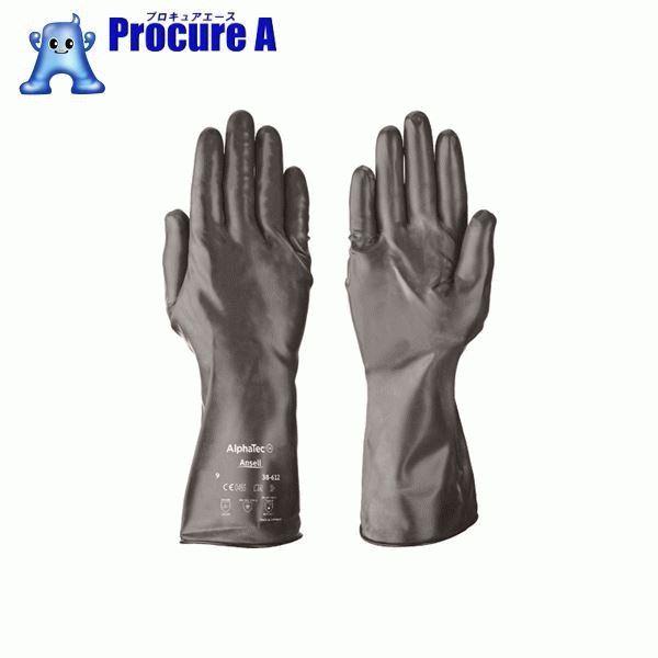 アンセル 耐薬品手袋 アルファテック 38-612 Lサイズ 38-612-9 ▼858-0711 (株)アンセル・ヘルスケア・ジャパン
