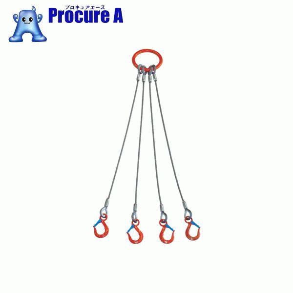 大洋 4本吊 ワイヤスリング 3.2t用×2m 4WRS 3.2TX2 ▼473-0461 大洋製器工業(株)