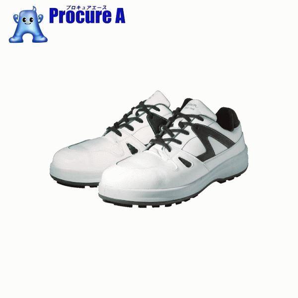 シモン 安全靴 短靴 8611白/ブルー 23.5cm 8611WB-23.5 ▼351-4099 (株)シモン