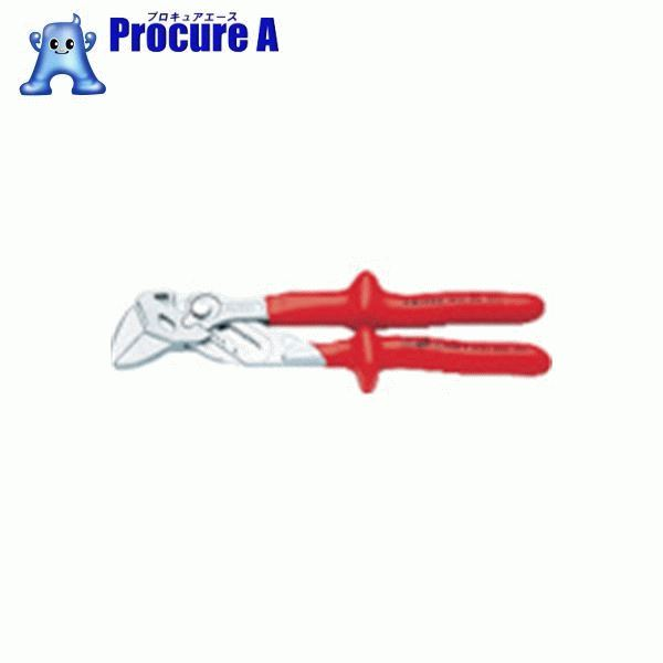 KNIPEX 1000V絶縁プライヤーレンチ 250mm 8607-250 ▼471-5951 KNIPEX社
