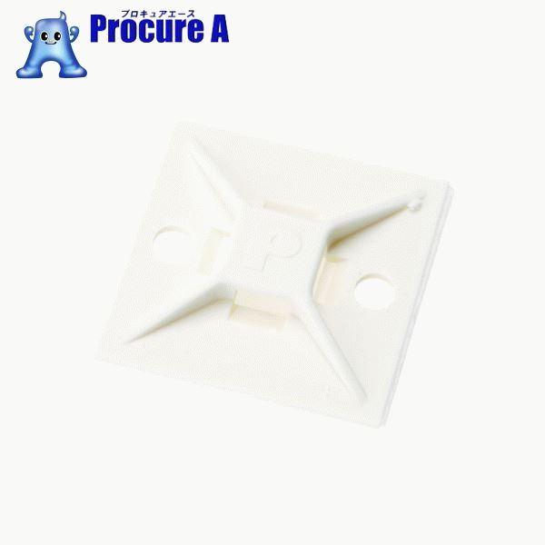 パンドウイット マウントベース ゴム系粘着テープ付き 白 (500個入) ABM112-A-D ▼403-6506 パンドウイットコーポレーション