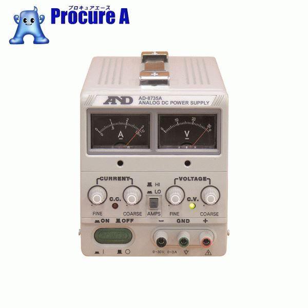 A&D 直流安定化電源トラッキング動作可能アナログ・メーター方式 AD8735A ▼323-9624 (株)エー・アンド・デイ