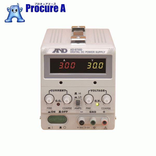 A&D 直流安定化電源トラッキング動作可能LEDデジタル表示 AD8735D ▼323-9632 (株)エー・アンド・デイ