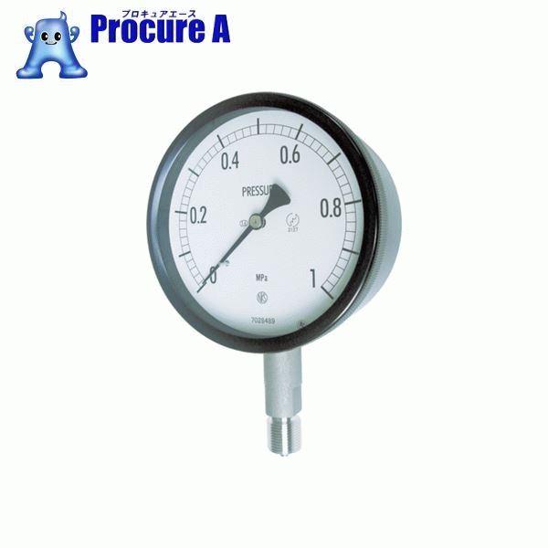 長野 密閉形圧力計 BE10-133-0.1MP ▼169-3786 長野計器(株)