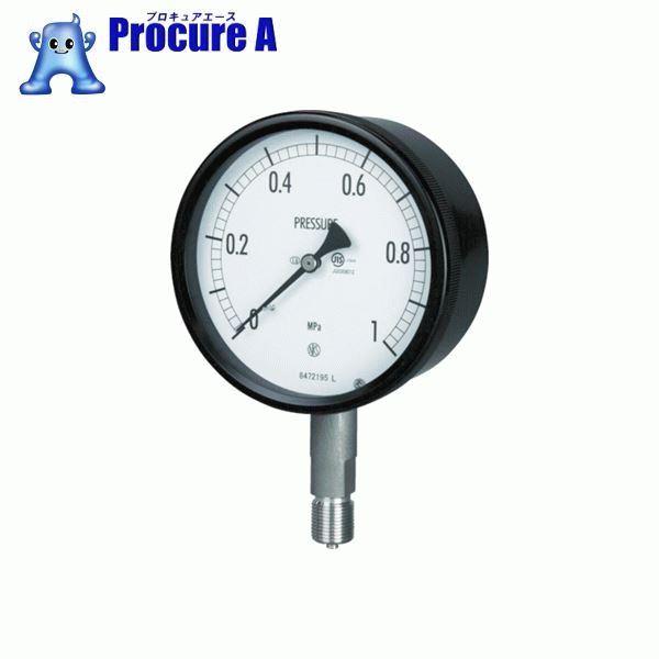 長野 密閉形圧力計 BE10-133-0.6MP ▼169-3824 長野計器(株)