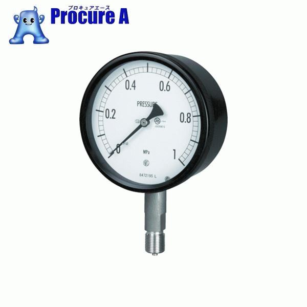 長野 密閉形圧力計 BE10-133-2.5MP ▼169-3859 長野計器(株)