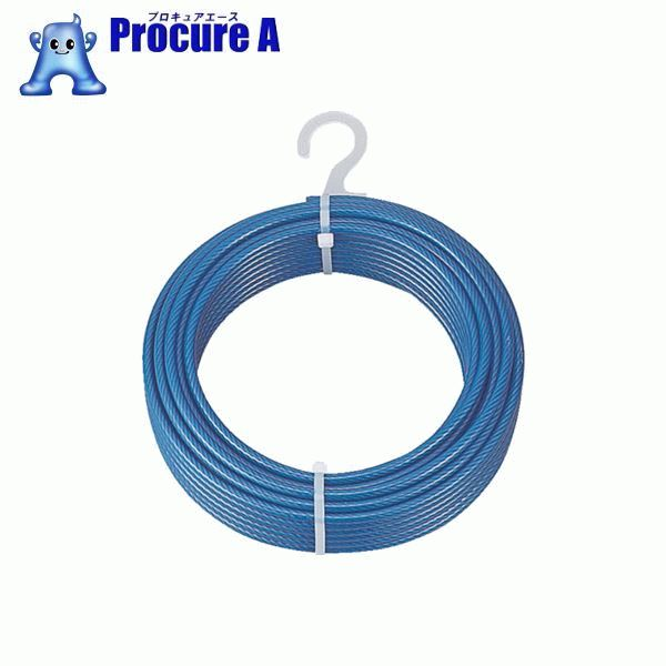 TRUSCO メッキ付ワイヤーロープ PVC被覆タイプ Φ6(8)mmX100m CWP-6S100 ▼856-0811 トラスコ中山(株)