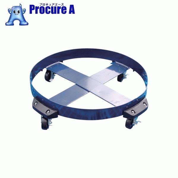 アクアシステム ドラム缶用キャリー ゴム製タイヤ(最大耐荷重250kg) DC-NBR ▼474-7437 アクアシステム(株)