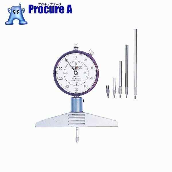 テクロック ダイヤルデプスゲージ 測定範囲0~230mm DM-224 ▼102-8685 (株)テクロック