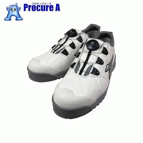 ディアドラ DIADORA安全作業靴 フィンチ 白/銀/白 25.5cm FC181-255 ▼855-2266 ドンケル(株)