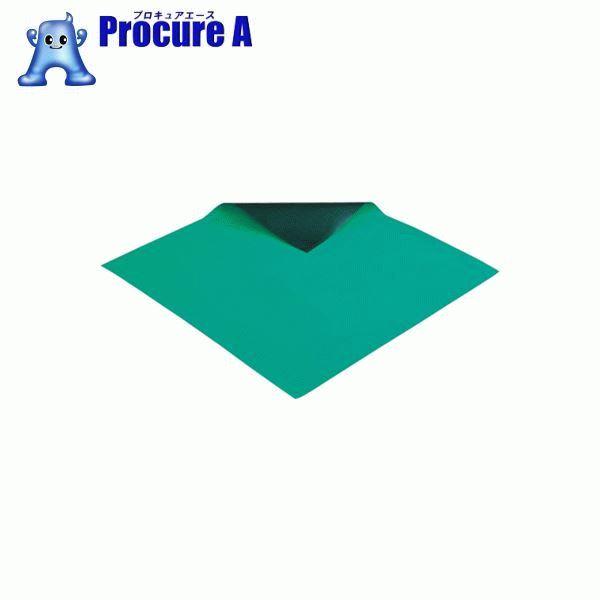 HOZAN 導電性カラーマット グリーン 長さ10M F-743 ▼859-6227 ホーザン(株)