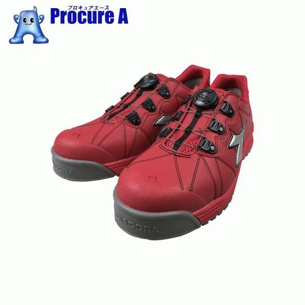 ディアドラ DIADORA安全作業靴 フィンチ 赤/銀/赤 25.5cm FC383-255 ▼855-2275 ドンケル(株)