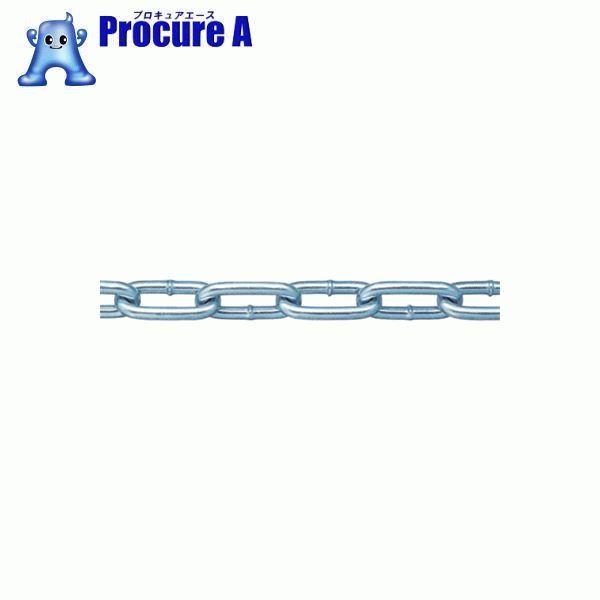 ニッサチェイン 鉄ユニクロ溶接リンクチェイン 6.5mmX30M IW2065 ▼355-7537 (株)ニッサチェイン