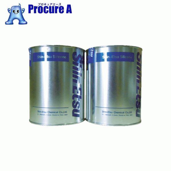 信越 速硬化RTVパテ AB2kg KE1222AB ▼423-0043 信越化学工業(株)