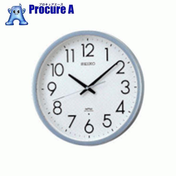 SEIKO 電波掛時計 直径390×52 P枠 銀色半光沢 KS265S ▼813-2946 セイコークロック(株)
