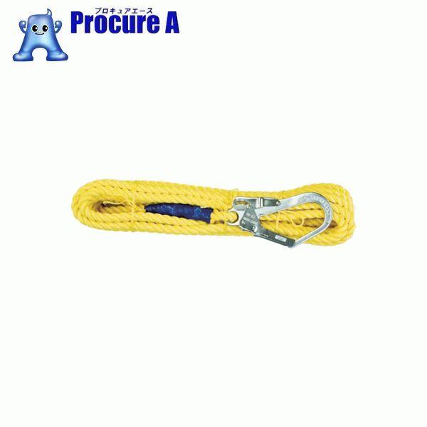 ツヨロン 昇降移動用親綱ロープ 10メートル L-10-TP-BX ▼388-2322 藤井電工(株)