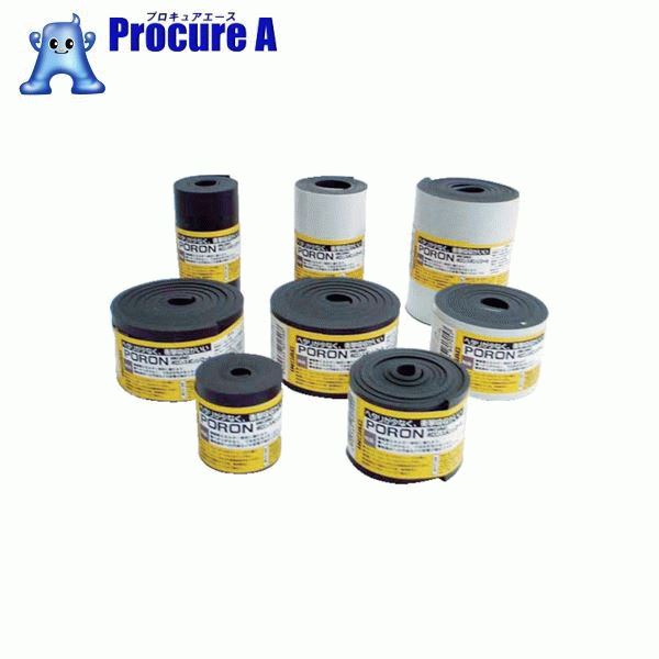 イノアック マイクロセルウレタンPORON 黒 3×100mm×24M巻(テープ L24-3100-24M ▼818-4097 (株)イノアックコーポレーション