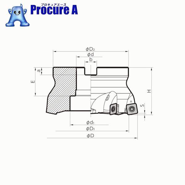 京セラ MFHフェースミル MFH125R-14-7T ▼654-6731 京セラ(株)