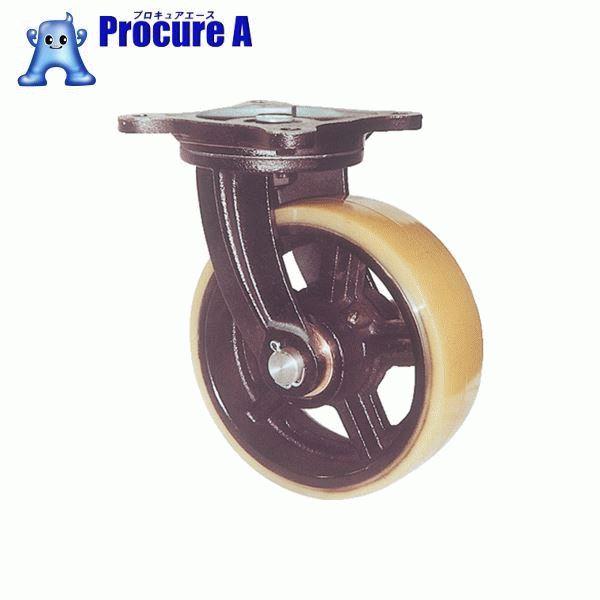 ヨドノ 鋳物重量用キャスター 許容荷重1470 取付穴径16mm  MUHA-MG300X100 ▼305-3229 (株)ヨドノ